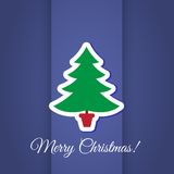 Christmas tree greeting card design Stock Images