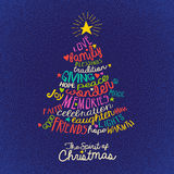 Christmas tree greeting card design Stock Photo