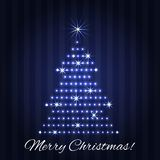 Christmas tree greeting card design Stock Image