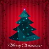 Christmas tree greeting card design Royalty Free Stock Photo