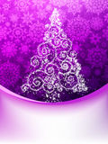 Christmas Tree, Greeting Card. EPS 10 Royalty Free Stock Images