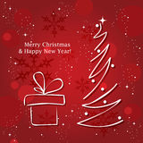 vector Christmas tree Royalty Free Stock Photos