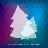 Christmas Tree Greeting Card. Illustration of a Christmas Tree Greeting Card Vector Illustration