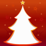 Christmas tree greeting card. Illustration Stock Images