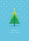 Christmas tree greeting card. Illustration Royalty Free Stock Photo