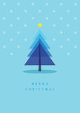 Christmas tree greeting card. Illustration Stock Photography