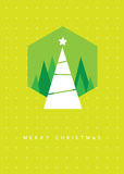 Christmas tree greeting card. Illustration Royalty Free Stock Photography