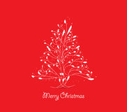 Christmas tree greeting card. Merry christmas background and greeting card design Royalty Free Stock Photos
