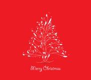 Christmas tree greeting card Royalty Free Stock Photos