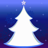 Christmas tree greeting card Stock Images