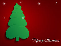 Christmas tree Greeting card Royalty Free Stock Images