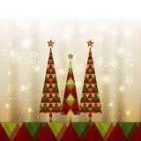 Christmas Tree Greeting Card stock photos