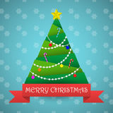 Christmas tree greeting card vector background Stock Photos