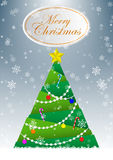 Christmas tree greeting card vector background Royalty Free Stock Image