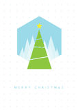 Christmas tree greeting card Royalty Free Stock Image