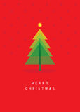 Christmas tree greeting card. Vector illustration Royalty Free Stock Images
