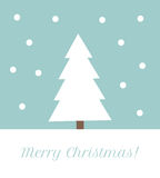 Christmas tree greeting card Royalty Free Stock Photography