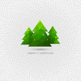 Christmas tree greeting card. Vector polygonal design Royalty Free Stock Photos