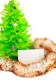 Christmas tree with greeting cards Stock Images