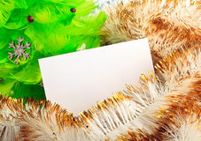 Christmas tree with greeting cards Royalty Free Stock Photos