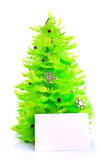 Christmas tree with greeting cards Royalty Free Stock Image