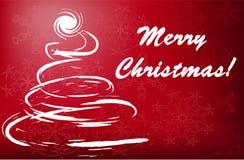 Christmas tree greetings Stock Photo