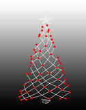 Christmas tree on a grey background Royalty Free Stock Images