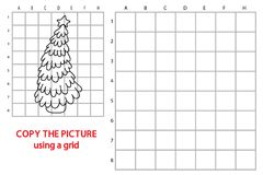 Christmas tree grid copy game Royalty Free Stock Photography