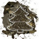 Christmas tree on grunge background Royalty Free Stock Image