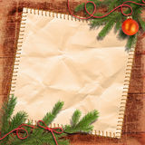 Christmas tree and Grunge paper Royalty Free Stock Photography