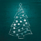 Christmas tree hand draw Stock Photo