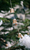 Christmas tree hand-made coffee capsules Stock Photography