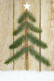 Christmas Tree Handcrafted from Fir Branches Royalty Free Stock Photography