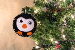 Christmas tree handmade animal decoration Royalty Free Stock Photos