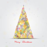 Christmas tree.Happy new year and merry christmas abstract. Background.Vector illustration royalty free illustration