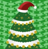 Christmas tree with hat Royalty Free Stock Images