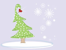 Christmas Tree with a Heart Royalty Free Stock Photos