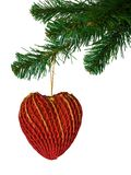 Christmas tree and heart Stock Image