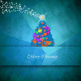 Christmas Tree of hearts and flowers Royalty Free Stock Photo