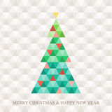 Christmas tree Hexagon pattern Royalty Free Stock Image