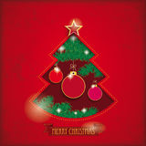 Christmas Tree Hole Stock Photography