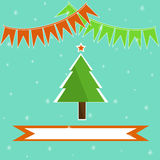 Christmas tree holiday background Stock Images