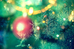 Christmas tree. Holiday card. Stock Images