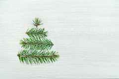 Christmas tree holiday card on white background Royalty Free Stock Photos