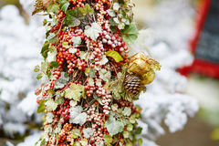 Christmas tree with holiday decorations Royalty Free Stock Images