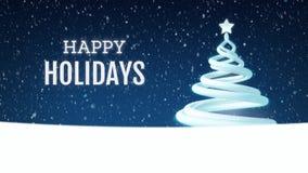 Christmas Tree Holiday Greeting Animation 4K