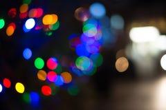 Christmas tree holiday lights bokeh Royalty Free Stock Image