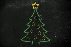 Christmas tree with holiday wishes Royalty Free Stock Photos