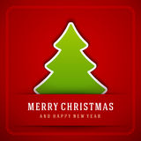 Christmas Tree and Holidays wish Happy New Year Royalty Free Stock Image
