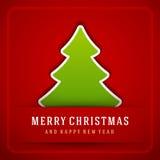 Christmas Tree and Holidays wish Happy New Year Royalty Free Stock Image